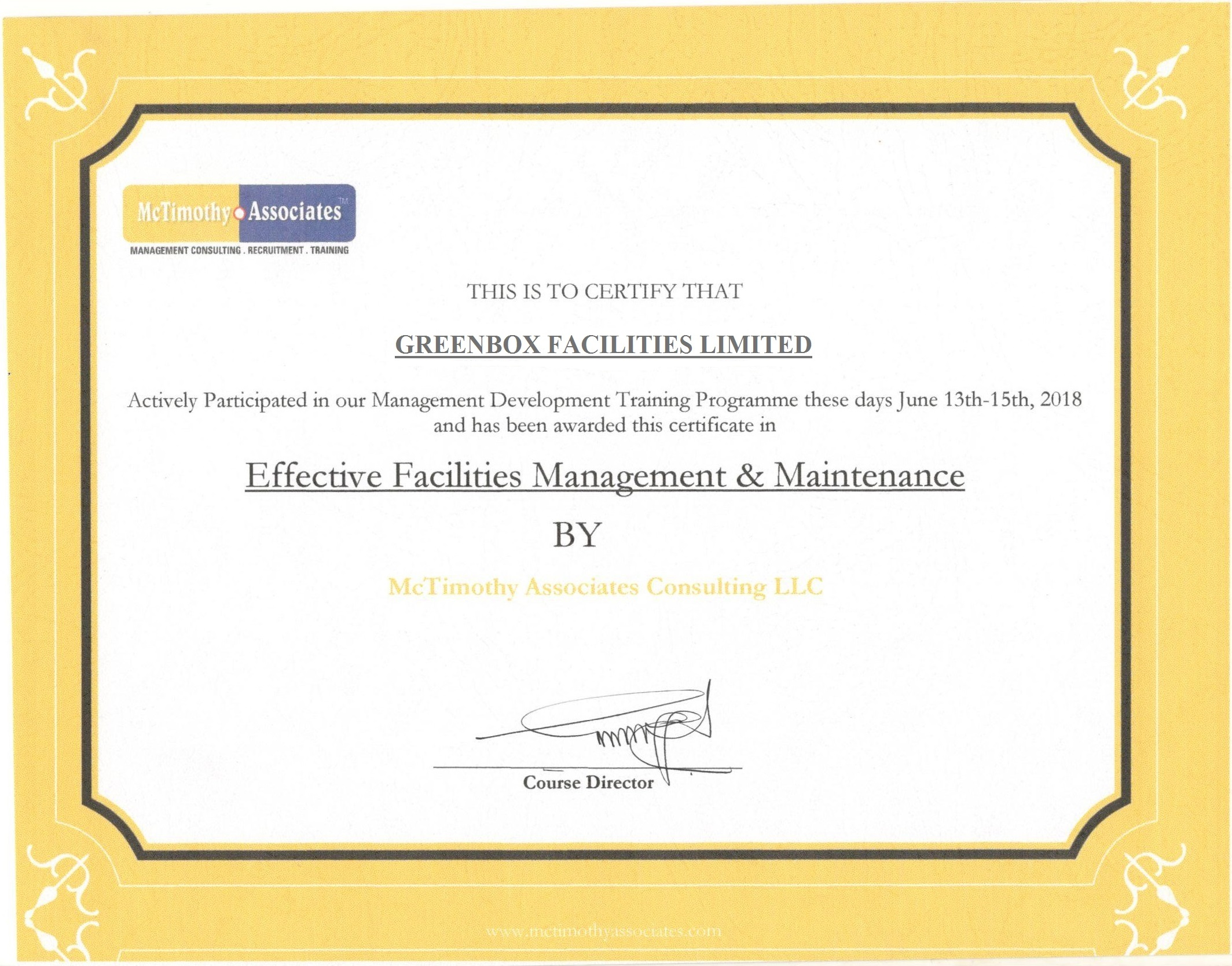 Effective Facilities Management and Maintenance Certification ...